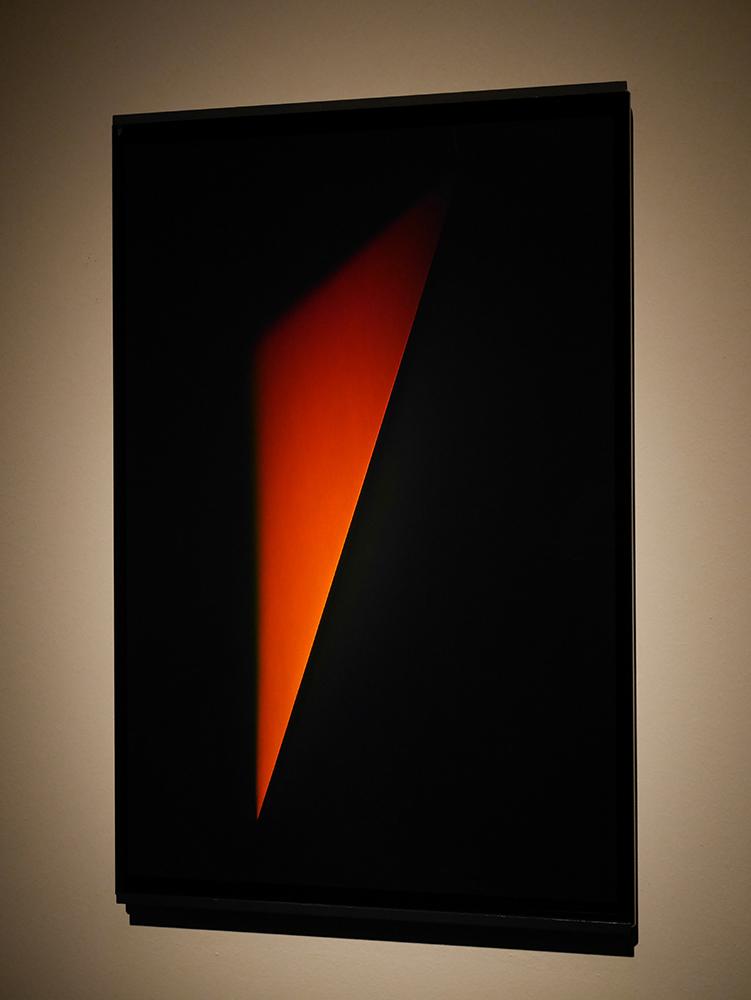 James Turrell,Red Orange Triangle Outie (XXX D), 2013