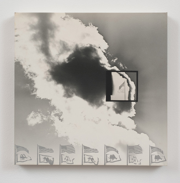 Darryl Curran, L.A. Series #16, 1969, Photographs and wood: Glossy gelatin silver photographic paper square mounted on matte surface photo paper with silver silkscreened ink, 30.48 x 30.48 x 2.54 cm / 12 x 12 x 1 in, © Darryl Curran, Courtesy Cherry and Martin, Photo: Robert Wedemeyer