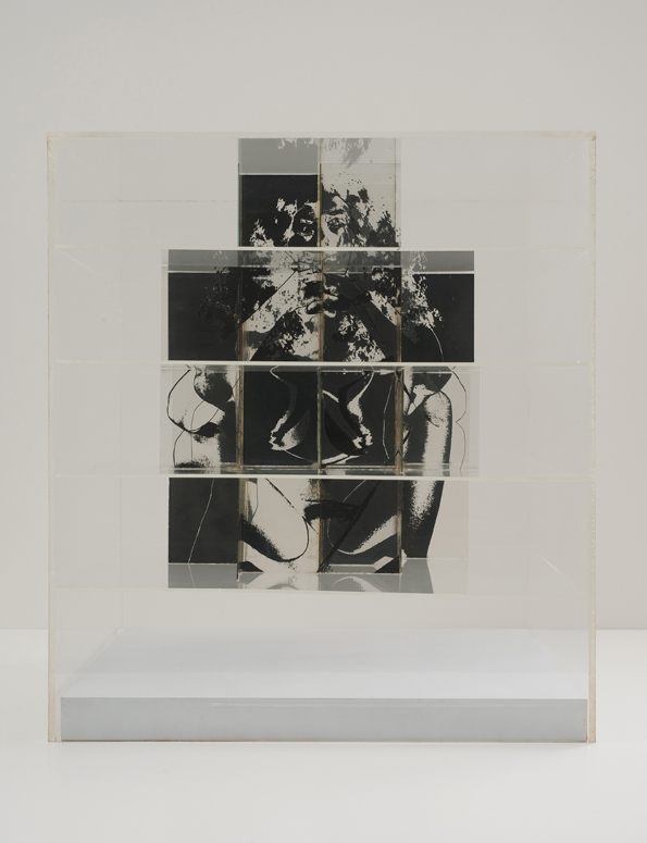 Jack Dale, Cubed Woman #3 a-b, 1970, Photosensitized glass, Plexiglas 55.88 x 50.8 x 50.8 cm / 22 x 20 x 20 in, © Jack Dale, Courtesy Cherry and Martin, Photo: Robert Wedemeyer