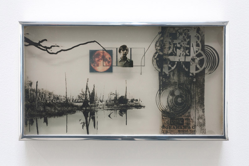 Andre Haluska, Self-portrait with Images, 1969 – 2011, Film, Plexiglas, inkjet print 16.03 x 11 cm / 6 1/4 x 4 3/8 in, © Andre Haluska, Courtesy Cherry and Martin, Photo: Robert Wedemeyer