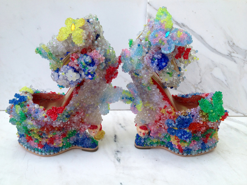 Let there be Bride, 2013, Raul de Nieves, mixed Media on shoe.Photo courtesy of artist