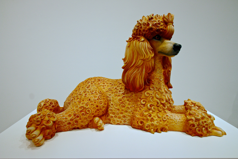 Poodle, 1991, Polychromed wood, 23 x 391/2 x 20 1/2 in. (58.4 x 100.3 x 52.1 em), Edition no. 2/3, Whitney Museum of American Art, New York; promised gift of Thea Westreich Wagner and Ethan Wagner P.2011.212. Photo: © Corrado Serra
