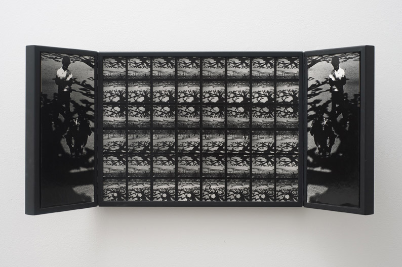 Charles Roitz , Ecological Anagoge - Triptych, 1968 – 1970, Photographs and wood, 38.1 x 96.52 x 3.81 cm / 15 x 38 x 1 1/2 in, © Charles Roitz, Courtesy Cherry and Martin, Photo: Robert Wedemeyer