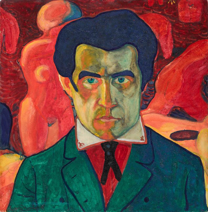 Kazimir Malevich, Self Portrait 1908-1910, State Tretyakov Gallery, Moscow, Russia