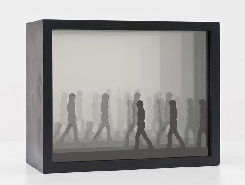 Michael Stone, Untitled, 1968, Kodalith film, Plexiglas, mirror, wood, 20.32 x 25.4 x 12.07 cm / 8 x 10 x 4 3/4 in © Michael Stone, Courtesy Cherry and Martin, Photo: Bryan Forrest