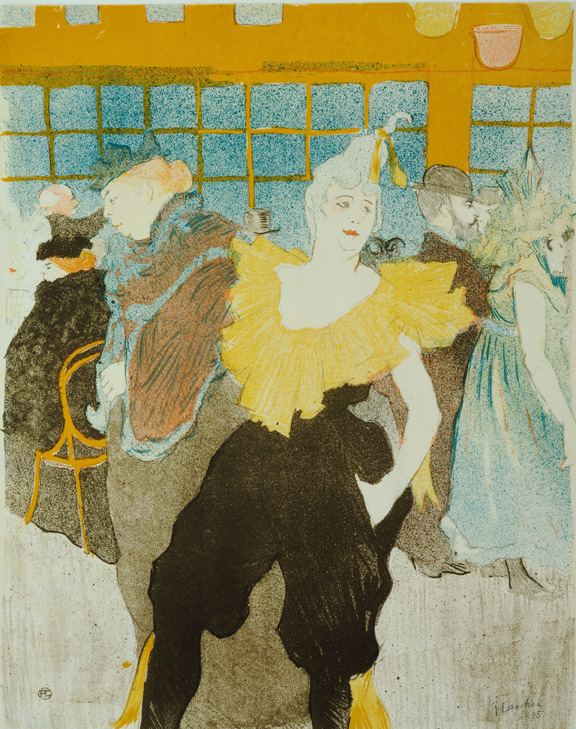 Henri de Toulouse-Lautrec (French, 1864–1901). La Clownesse au Moulin Rouge (The Clowness at the Moulin Rouge). 1897. Lithograph, sheet: 15 7/8 x 12 11/16 in. (40.4 x 32.3 cm) The Museum of Modern Art, New York. Gift of Abby Aldrich Rockefeller, 1946