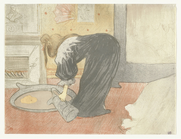 Henri de Toulouse-Lautrec (French, 1864–1901). Femme au tub (Woman at the Tub) from the portfolio Elles. 1896. Lithograph, sheet: 15 1/2 x 20 1/4 in. (39.4 x 51.4 cm) The Museum of Modern Art, New York. Gift of Abby Aldrich Rockefeller, 1946