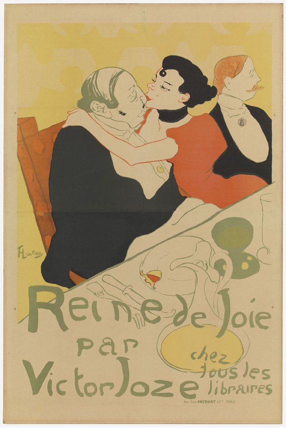 Henri de Toulouse-Lautrec (French, 1864–1901). Reine de joie (Queen of Joy). 1892. Lithograph, sheet: 59 7/16 x 39 7/16 in. (151 x 100.1 cm) The Museum of Modern Art, New York. Gift of Mr. and Mrs. Richard Rodgers, 1961