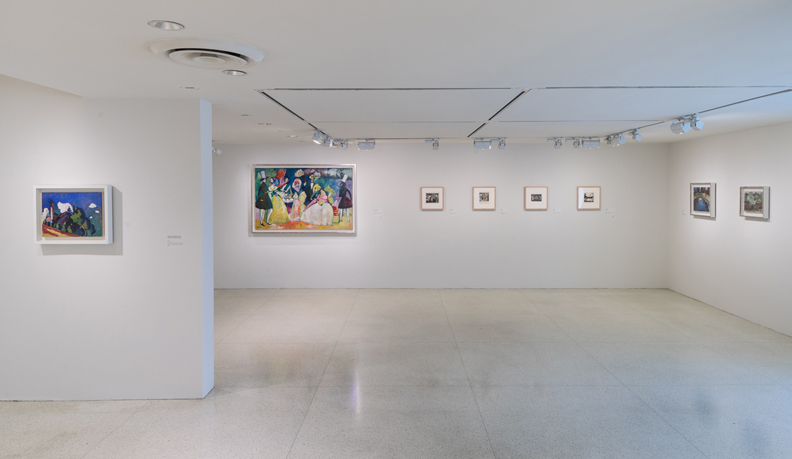 Installation view: Kandinsky Before Abstraction 1901–1911, Solomon R. Guggenheim Museum, New York, June 27, 2014–Spring 2015