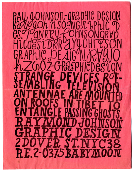 "Ray Johnson. Promotional flyer (""Strange Devices…""). c. 1956-1960. The Museum of Modern Art Library, NY."