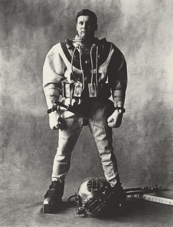 Irving Penn, Deep-Sea Diver (C), New York, 1951, Copyright © by Condé Nast Publications, Inc.