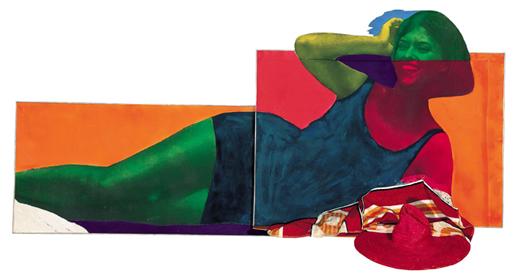 Soudain l'été dernier, 1963, OEuvre en 3 dimensions, assemblage, 106 x 227 x 58 cm, Centre Pompidou, musée national d'art moderne. Photo : Philippe Migeat / Centre Pompidou, MNAM-CCI / Dist. RMN-GP © Adagp, Paris 2014 LES ANNÉES POP