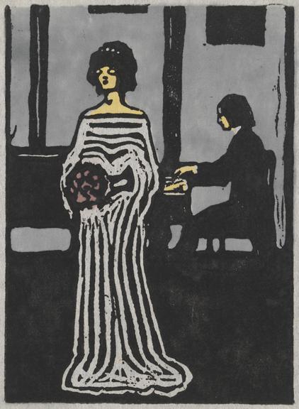 Singer (Sängerin), 1903Woodcut on Japanese paper, mounted on paper, 35.9 x 24.8 cmSolomon R. Guggenheim Museum, New York 72.2003© 2014 Artists Rights Society (ARS), New York/ADAGP, Paris