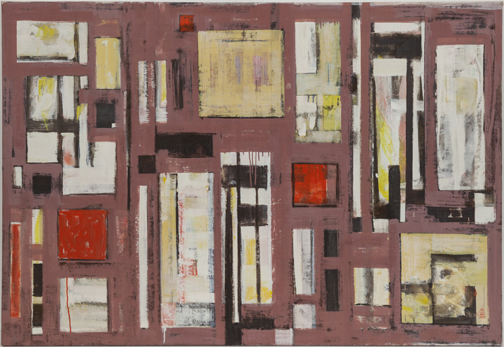 Lee Krasner, Untitled, 1950, oil on canvas, 39 1/2 x 58 in. (100.3 x 147.3 cm). Courtesy Robert Miller Gallery. © 2014 The Pollock-Krasner Foundation / Artists Rights Society (ARS), New York