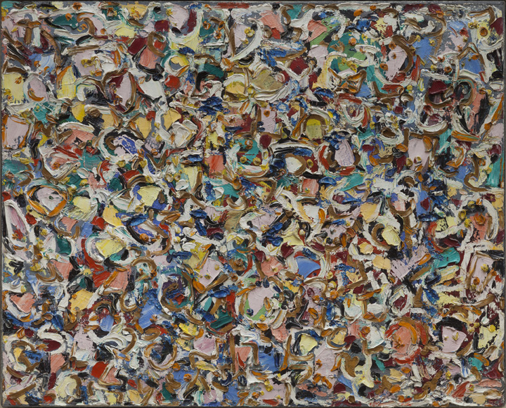 Lee Krasner, Noon, 1947, oil on linen, 24 x 30 in. (61 x 76.2 cm). Private Collection. © 2014 The Pollock-Krasner Foundation / Artists Rights Society (ARS), New York