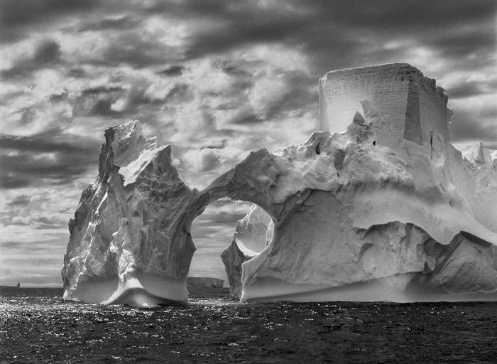 Sebastião Salgado, Iceberg between Paulet Island and the South Shetland Islands on the Antarctic Channel.  The Antarctic Peninsula.  2005. © Sebastião Salgado/Amazonas images-Contact Press Images.