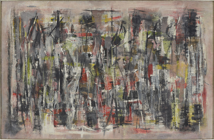 Norman Lewis, Untitled, 1949, oil on canvas, 20 x 30 in. Private collection. © The Estate of Norman W. Lewis, Courtesy of Iandor Fine Arts, New Jersey