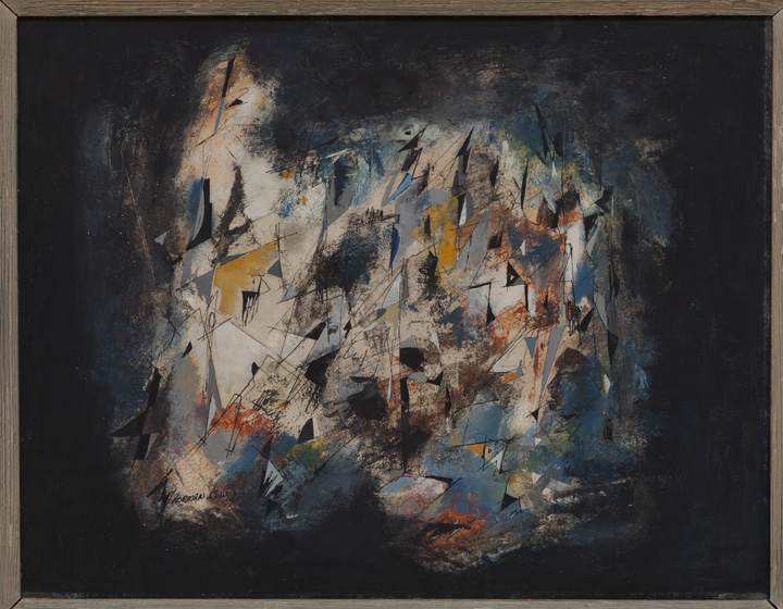 Norman Lewis, Florence, 1947, oil on Masonite, 14 x 18 in. Private collection. © The Estate of Norman W. Lewis, Courtesy of Iandor Fine Arts, New Jersey