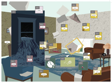 Richard McGuire, Spread from Here, 2014 © Richard McGuire