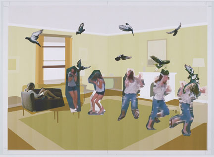 Richard McGuire, Digital sketch for a spread in Here, 2014 © Richard McGuire