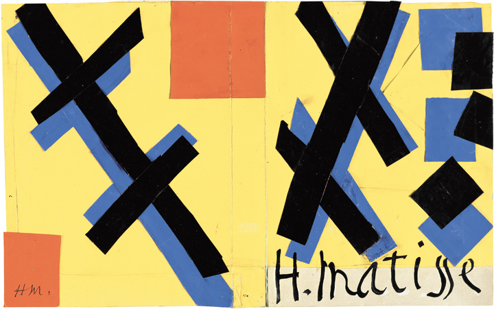 "Henri Matisse (French, 1869-1954). Cover maquette for the book Matisse His Art and His Public, 1951. Gouache on paper, cut and pasted. 10 5/8 x 16 7/8"" (27 x 42.9 cm). The Museum of Modern Art, New York. Mrs Simon Guggenheim Fund, 1968. © 2014 Succession H. Matisse / Artists Rights Society (ARS), New York"