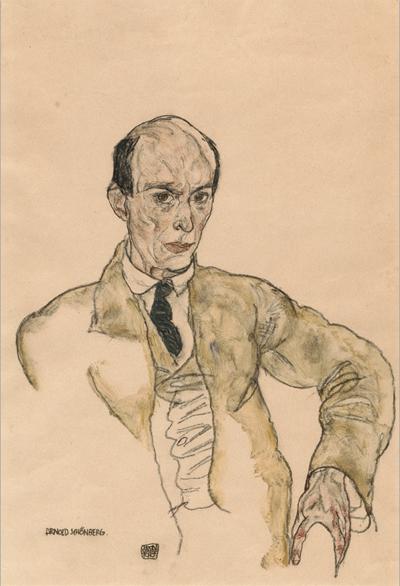 12. Egon Schiele, Portrait of Arnold Schonberg, 1917