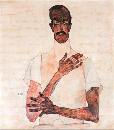 2. Egon Schiele, Portrait of Dr. Erwin von Graff, 1910