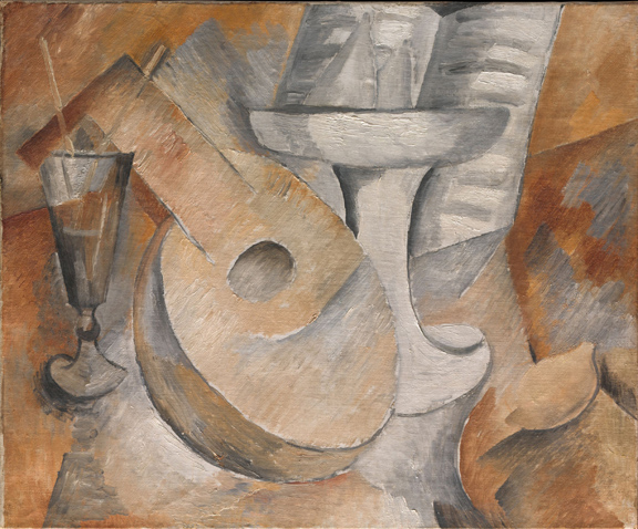2. Mandolin and Fruit Dish_Braque