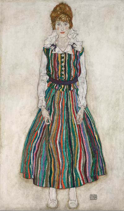 5. Egon Schiele, Portrait of the Artist's Wife, 1915