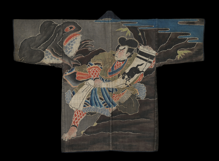 57. Fireman's Jacket with the Wizard Jiraiya Turning into a Giant Toad_back