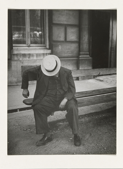 Man Sleeping in the Street, Brassaï (1899–1984). Gelatin silver print, Paris, 1932–34. Collection Rijksmuseum, purchased with the support of Baker & McKenzie.