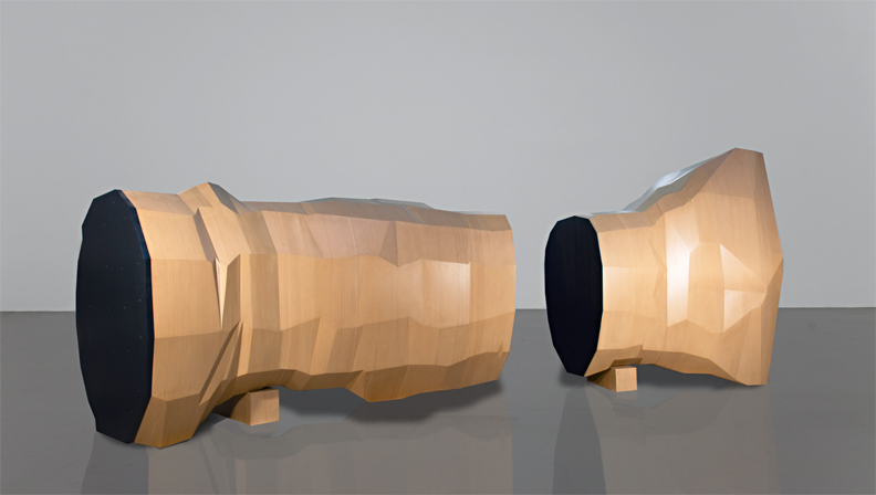 Wang Jianwei Time Temple 2, 2014 Wood, rubber, and steel Five parts: one part 196 x 152.5 x 123 cm; one part 150 x 220 x 117 cm; one part 147 x 97 x 102 cm; one part 35 x 60 x 35 cm; one part 35 x 60 x 35 cm, dimensions vary with installation Solomon R. Guggenheim Museum, New York The Robert H. N. Ho Family Foundation Collection This work was created on the occasion of the commission Wang Jianwei: Time Temple, presented at the Solomon R. Guggenheim Museum, New York, and made possible by The Robert H. N. Ho Family Foundation All works by Wang Jianwei © 2014 Wang Jianwei, used by permission