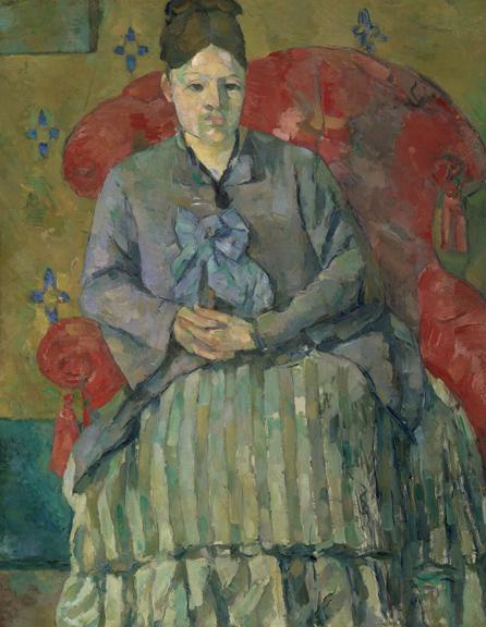 1. Cezanne_Madame Cezanne in a Red Armchair_MFA Boston