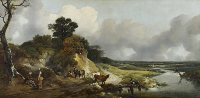 NG 2174 Painting Landscape with a View of a Distant Village Thomas Gainsborough