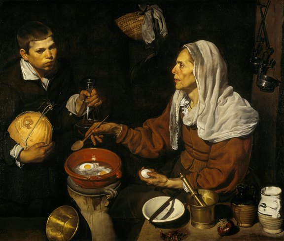 Diego Velazquez, An Old Woman Cooking Eggs