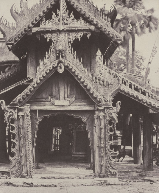 10. Pugahm Myo Carved Doorway in courtyard of Shwe Zeegong Pagoda