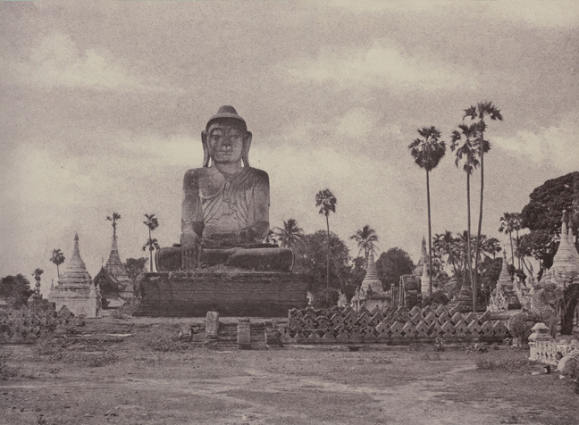 3. Amerapoora. Colossal Statue of Gautama close to the North End of the Wooden Bridge