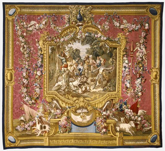 Tapestry: La Poltronnerie de Sancho à la chasse, from L'Histoir