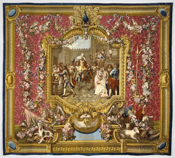 Tapestry: L'Entrée de Sancho dans l'Ile de Barataria, from L'Hi