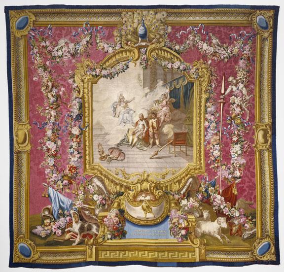 Tapestry: Don Quichotte guéri de sa folie par la sagesse, from