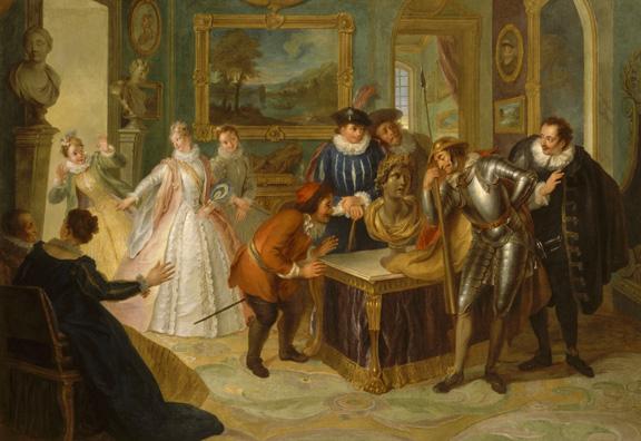 """Histoire de Don Quichotte : """"Don Quichotte consulte la tÍte enchantÈe chez Don Antonio DorÈno"""""""