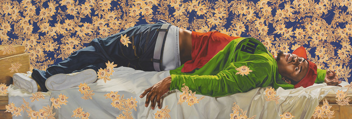 Kehinde Wiley (American, b. 1977). Femme piquée par un serpent, 2008. Oil on canvas, 102 x 300 in. (259.1 x 762 cm). Courtesy of Sean Kelly, New York. © Kehinde Wiley