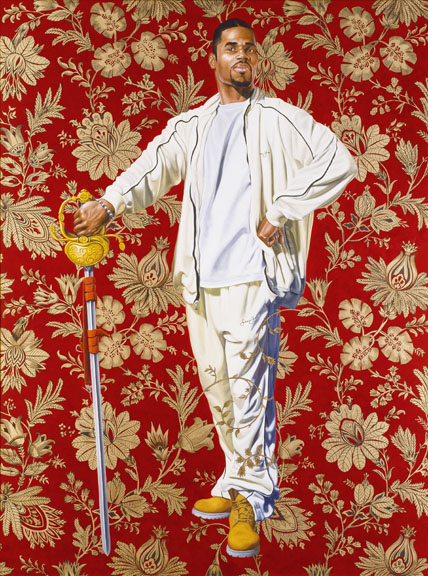 Kehinde Wiley (American, b. 1977). Willem van Heythuysen, 2005. Oil and enamel on canvas, 96 x 72 in. (243.8 x 182.9 cm). Virginia Museum of Fine Arts, Richmond; Arthur and Margaret Glasgow Fund, 2006.14. © Kehinde Wiley. (Photo: Katherine Wetzel, © Virginia Museum of Fine Arts)