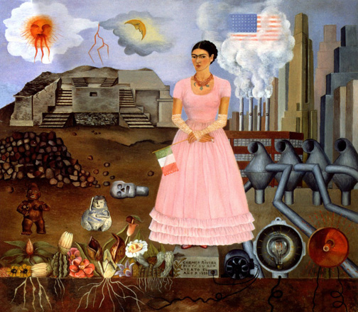 image-292Self Portrait on Borderline - Frida Kahlo