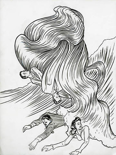 Jim Shaw Forces of Nature/Hair, 2011 Ink on paper 12 x 9 in (30.5 x 22.9 cm)  Courtesy of the artist and Metro Pictures, New York