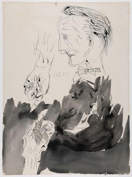 Untitled [Marcel Duchamp]. 2001. Black ink. EBA5367.