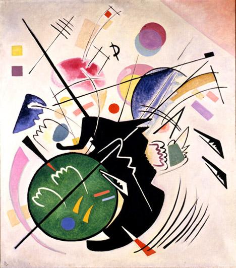 12. Kandinsky, Black form