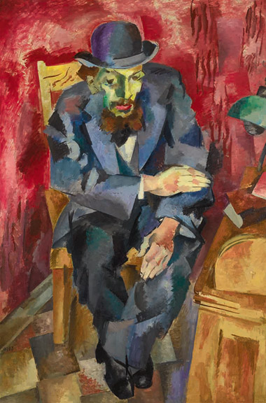 Robert Falk (1886-1958) Man in a Bowler Hat (Portrait of Yakov Kagan-Shabshai), 1917 Oil on canvas 147 x 99 cm (57 7/8 x 39 in.) Petr Aven Collection