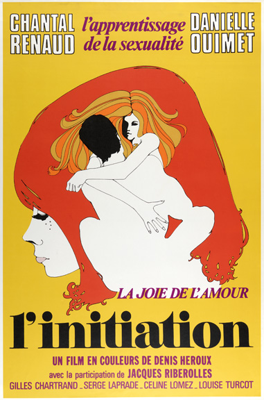 Jacques Delisle (Canadian, b. 1941) for Cinépix Film Properties, Inc. (CFP) (Montreal, Canada). L'Initiation, 1970. Offset lithograph. 101.6 x 68.6 cm (40 x 27 in.). Gift of Sara and Marc Benda, 2010-21-97. Photo by Matt Flynn.