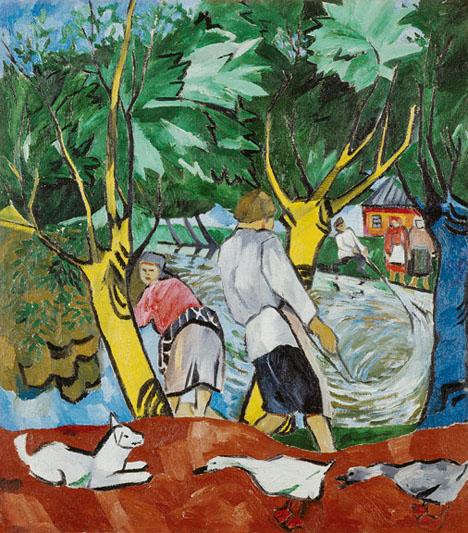 4. Goncharova, Pond